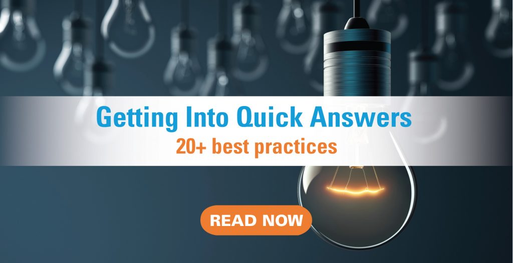 find keywords quick answers banner