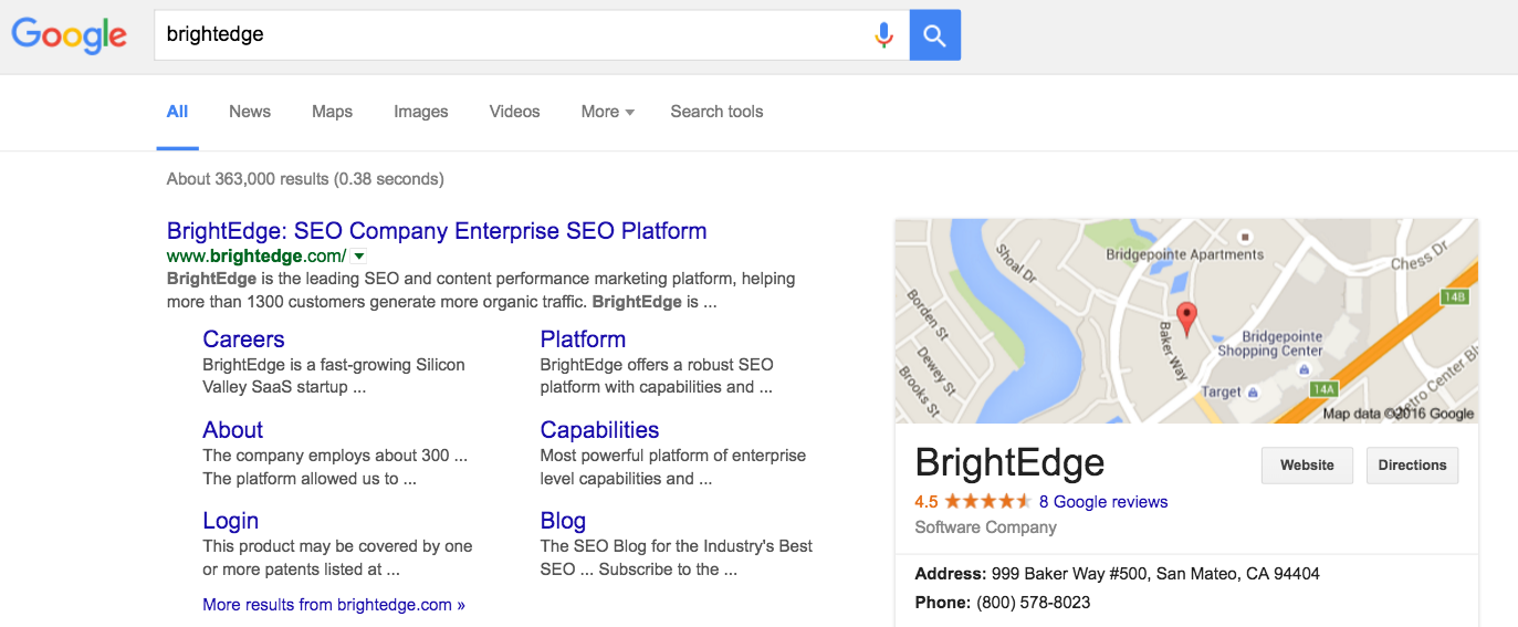 Local SEO NAP basics - brightedge